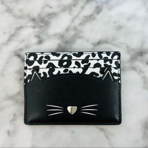 Kate Spade Meow Cat Small Slim Card Holder